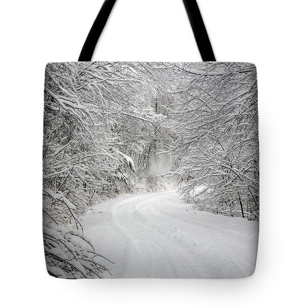 Four Wheel Winter Tote Bag by John Haldane