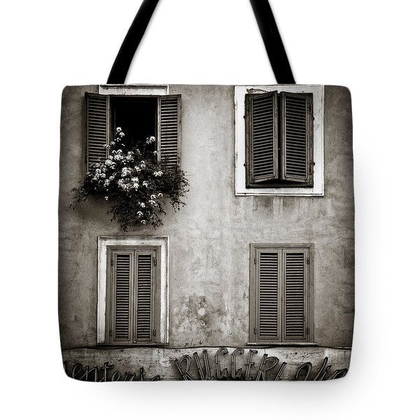 Four Windows Tote Bag by Dave Bowman