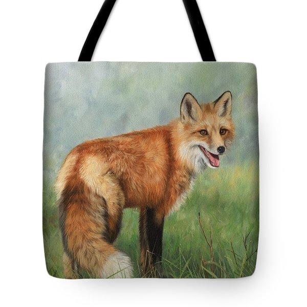 Fox  Tote Bag by David Stribbling