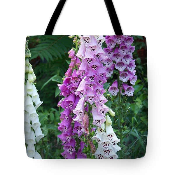 Foxglove After The Rains Tote Bag by Eunice Miller