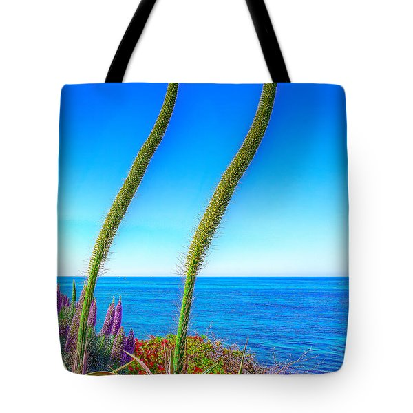 Foxtails On The Pacific Tote Bag by Jim Carrell