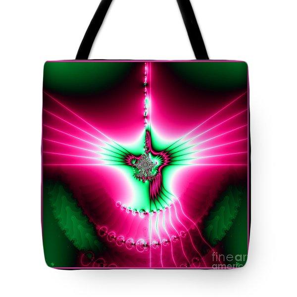 Fractal 11 Holy Spirit Tote Bag by Rose Santuci-Sofranko