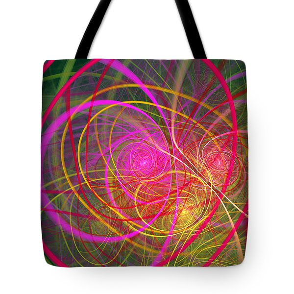 Fractal - Abstract - Loopy Doopy Tote Bag by Mike Savad