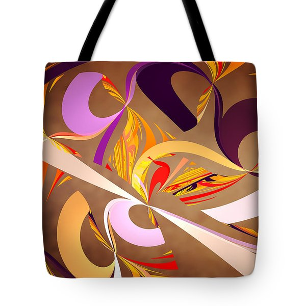 Fractal - Abstract - Space Time Tote Bag by Mike Savad