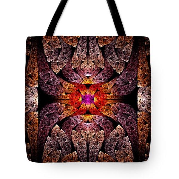 Fractal - Aztec - The Aztecs Tote Bag by Mike Savad