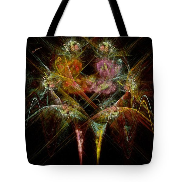 Fractal - Christ - Angels Embrace Tote Bag by Mike Savad