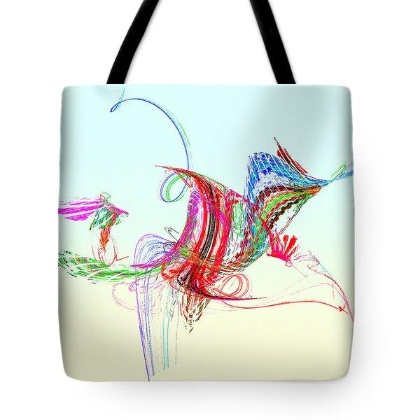 Fractal - Flying Bird Tote Bag by Susan Savad