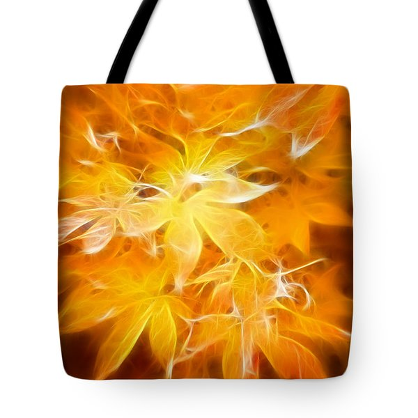 Fractal Gold 6664 Tote Bag by Timothy Bischoff