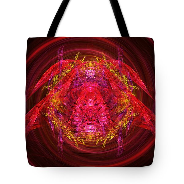 Fractal - Insect - Jeweled Scarab Tote Bag by Mike Savad