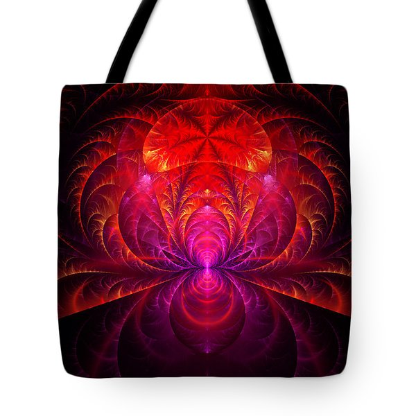 Fractal - Jewel of the Nile Tote Bag by Mike Savad
