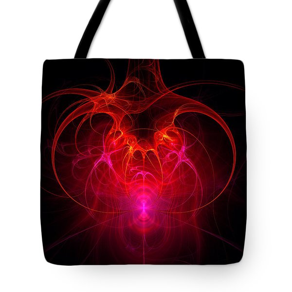 Fractal - Science - The neural network Tote Bag by Mike Savad