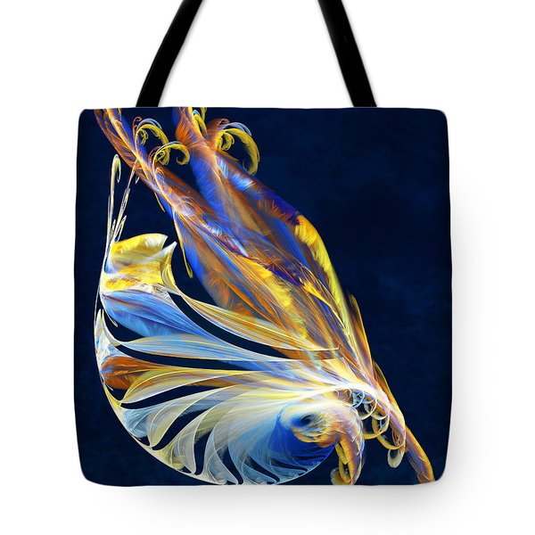 Fractal - Sea Creature Tote Bag by Susan Savad