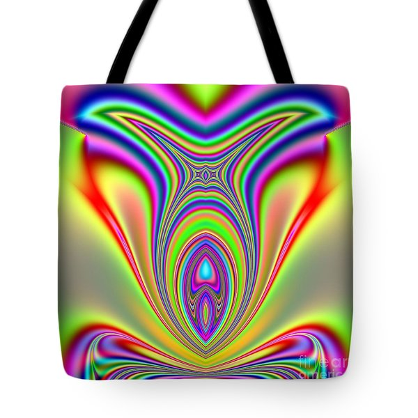 Fractal Sunfish Tote Bag by Rose Santuci-Sofranko
