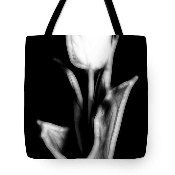 Fractal Tulip Tote Bag by Sebastian Musial