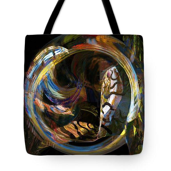 Fractals - Fish Tank Tote Bag by Susan Savad