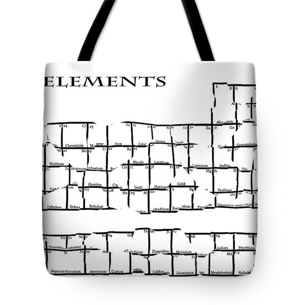 Fractured Periodic Table Tote Bag by Daniel Hagerman
