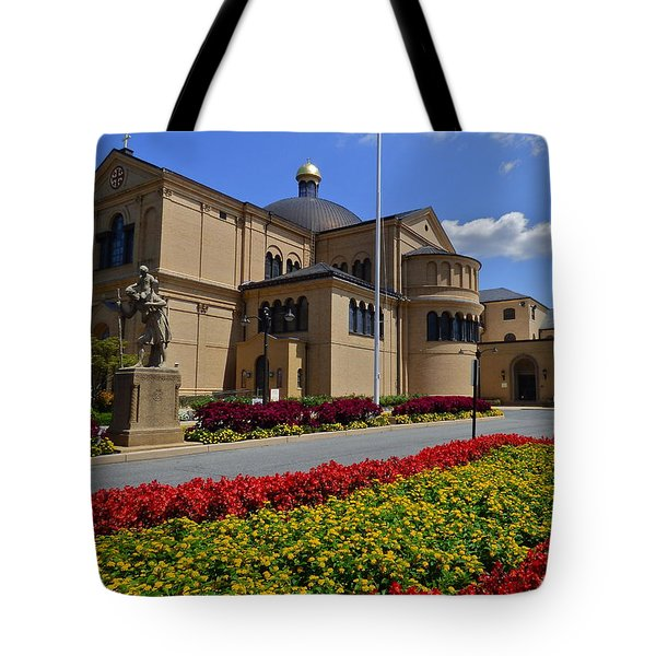 Franciscan Monastery In Washington Dc Tote Bag by Jean Doepkens Wright