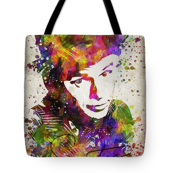 Frank Sinatra In Color Tote Bag by Aged Pixel