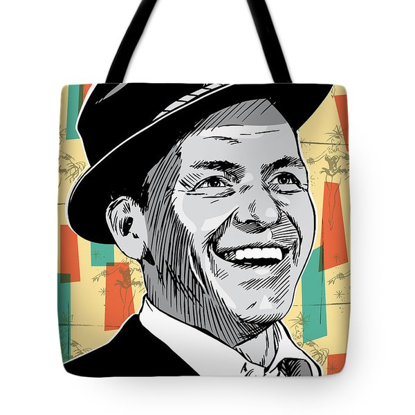 Frank Sinatra Pop Art Tote Bag by Jim Zahniser
