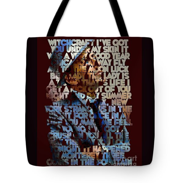 Frank Sinatra - The Songs Tote Bag by Spencer McKain