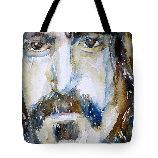 Frank Zappa Watercolor Portrait.2 Tote Bag by Fabrizio Cassetta