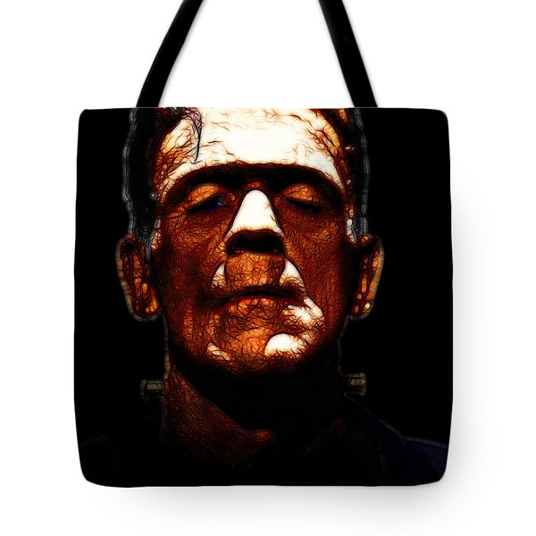 Frankenstein - Black Tote Bag by Wingsdomain Art and Photography