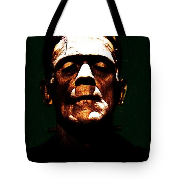 Frankenstein - Dark Tote Bag by Wingsdomain Art and Photography