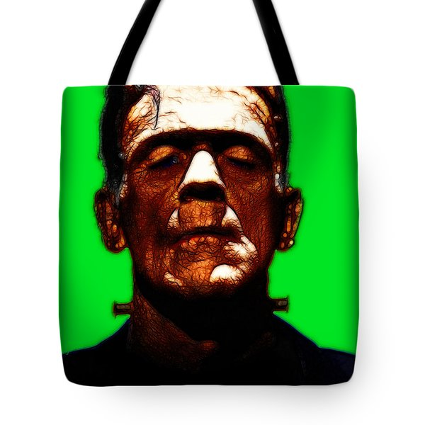 Frankenstein - Green Tote Bag by Wingsdomain Art and Photography