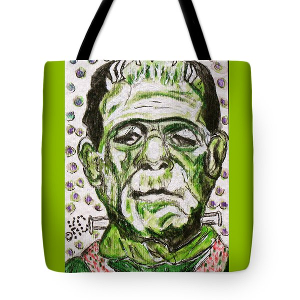 Frankenstein Tote Bag by Kathy Marrs Chandler