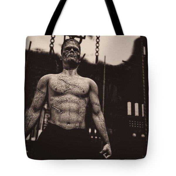 Frankenstein's Science Tote Bag by Bob Orsillo