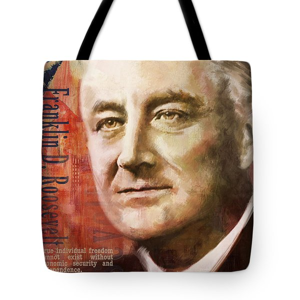 Franklin D. Roosevelt Tote Bag by Corporate Art Task Force