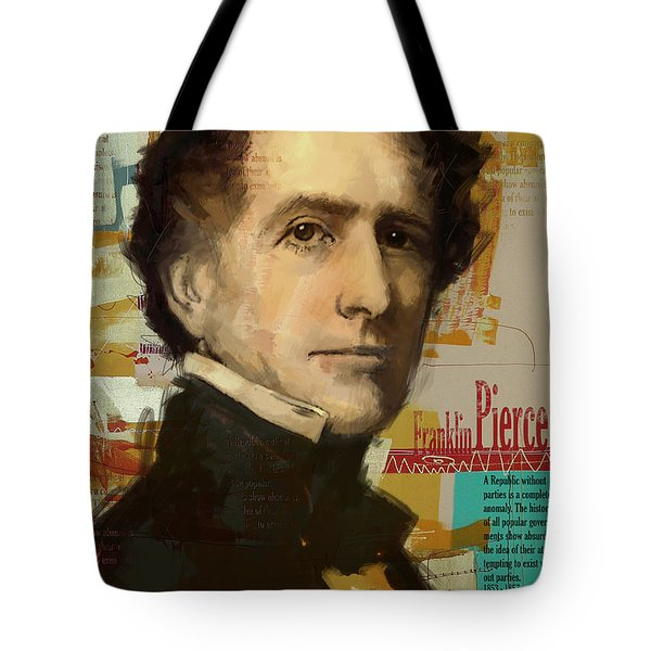 Franklin Pierce Tote Bag by Corporate Art Task Force