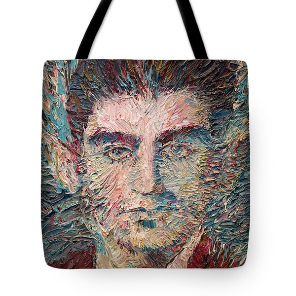 Franz Kafka Oil Portrait Tote Bag by Fabrizio Cassetta