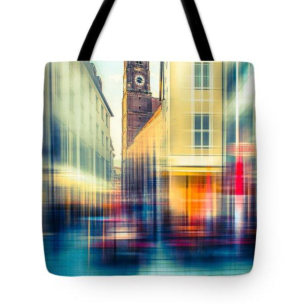 Frauenkirche - Munich V - Vintage Tote Bag by Hannes Cmarits