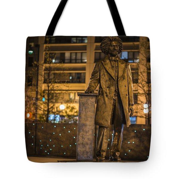 Frederick Douglass Tote Bag by Theodore Jones