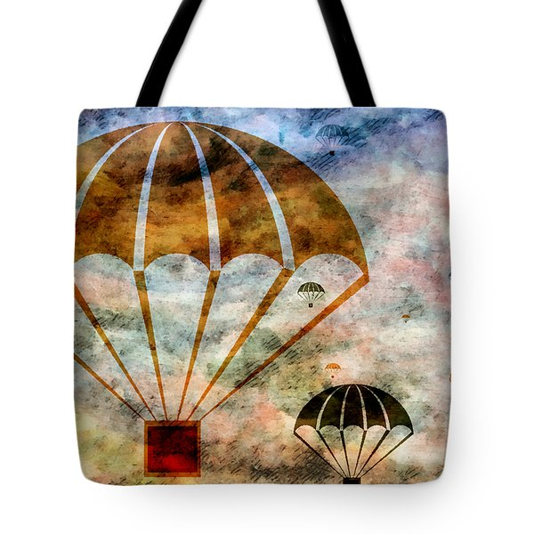 Free Falling Tote Bag by Angelina Vick