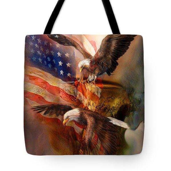 Freedom Ridge Tote Bag by Carol Cavalaris