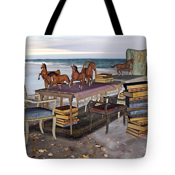Freedom Within A Book Tote Bag by Betsy Knapp
