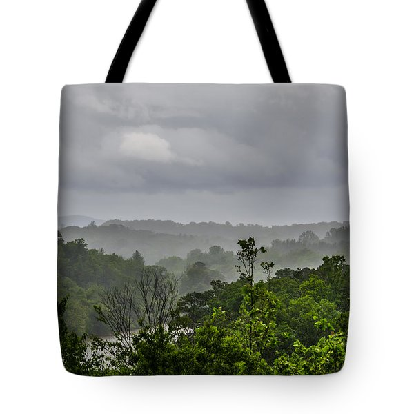 French Broad River Tote Bag by Carolyn Marshall