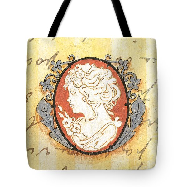 French Cameo 2 Tote Bag by Debbie DeWitt