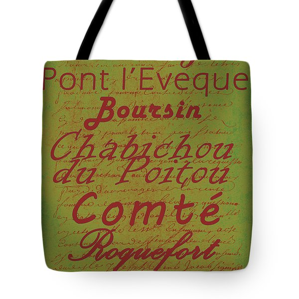 French Cheeses - 4 Tote Bag by Paulette B Wright