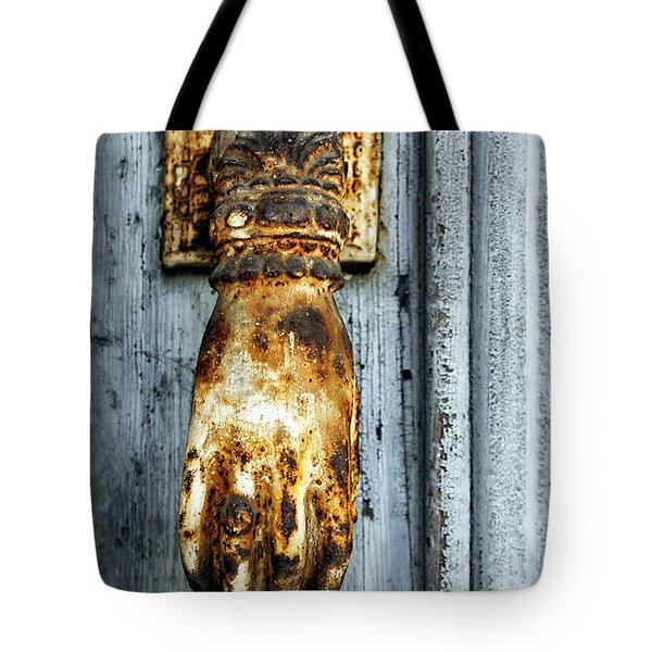 French Door Knocker Tote Bag by Georgia Fowler
