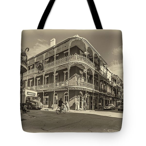French Quarter Afternoon Sepia Tote Bag by Steve Harrington