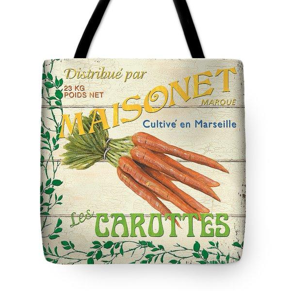 French Veggie Sign 2 Tote Bag by Debbie DeWitt