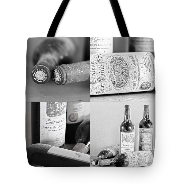 French Wine Collage Tote Bag by Nomad Art And  Design