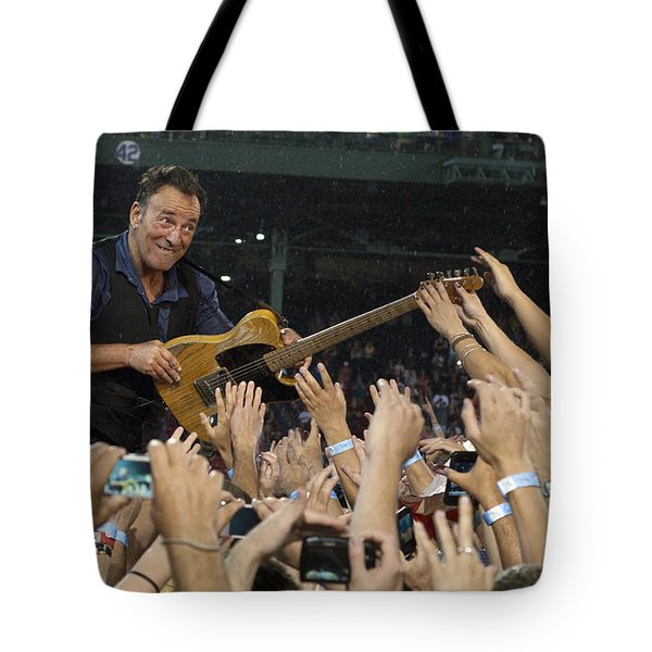 Frenzy at Fenway Tote Bag by Jeff Ross