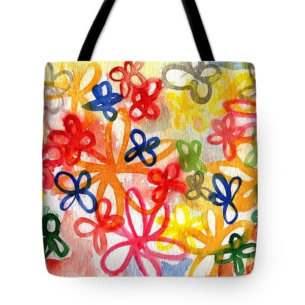 Fresh Flowers Tote Bag by Linda Woods