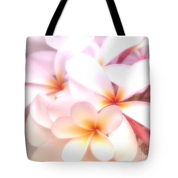 Fresh Frangipani Tote Bag by Karen Lewis