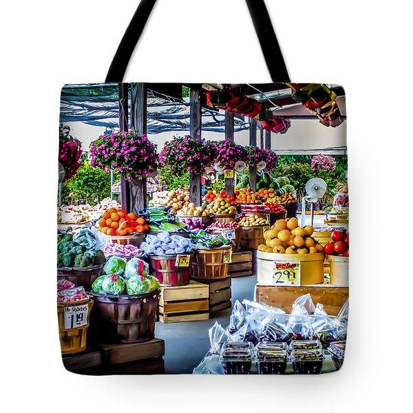 Fresh Market Tote Bag by Karen Wiles
