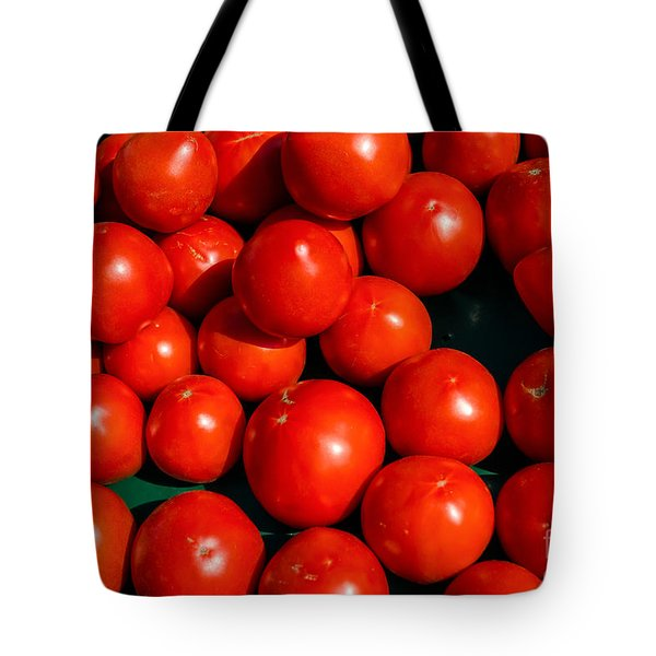 Fresh Ripe Red Tomatoes Tote Bag by Edward Fielding
